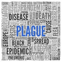 PLAGUE Concept Word Tag Cloud Design