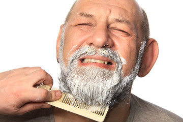 adult man color beard