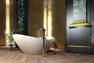 Luxury bathroom interior in classic style
