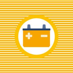 Spark-plug color flat icon