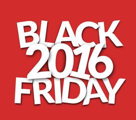 2016 bold white font black friday