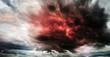 Leinwanddruck Bild - Fantastic sky presages apocalypse