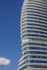 Facade of a modern office building in Groningen