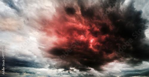 Leinwanddruck Bild Fantastic sky presages apocalypse
