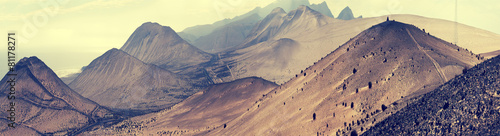 Foto op Plexiglas Zalm Fantastic landscape lifeless mountains