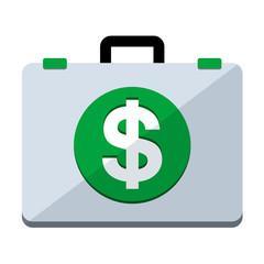 Icono maletin simbolo dolar