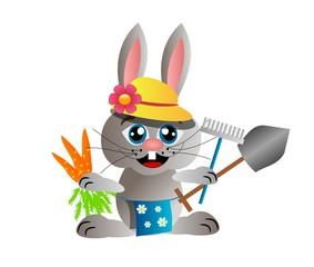 Gardening rabbit