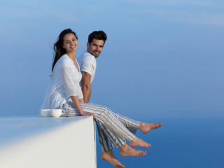happy young romantic couple have fun arelax  relax at home