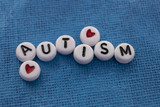 Autism beads with hearts