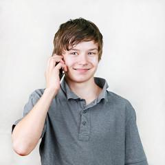 Boy at phone