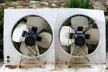 Double industrial fans