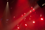 red and white reflectors focused on stage