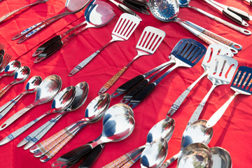 tableware and kitchenware sale at street market