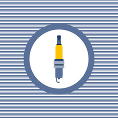Spark-plug color flat icon