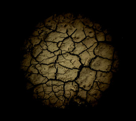 The cracks texture. Vector background.