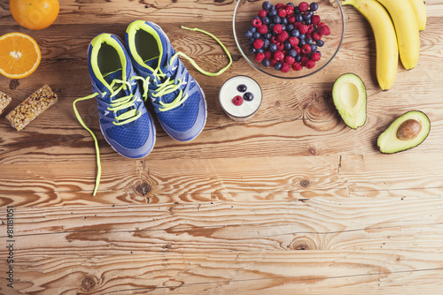 Running shoes and healthy food composition - 81181051