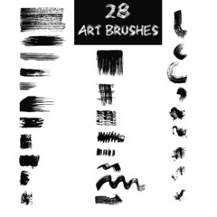 Vector art brushes