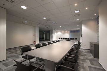 Conference room in new office building