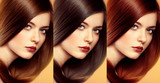 Fototapety Hair colors and tones. Lovely woman with various hair tints