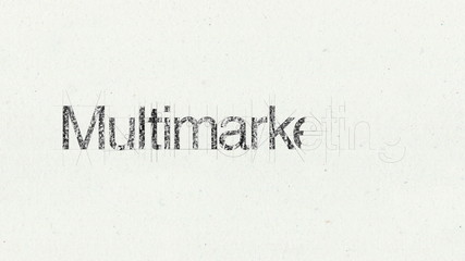Text animation 'Multimarketing' for presentations