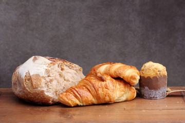 sour dough bread croissant muffin