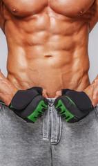 Muscular mans body