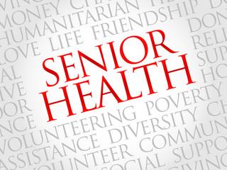 Senior health word cloud concept