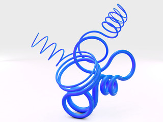 3D abstract shape, loops
