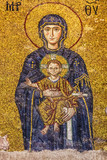 Icon of Virgin Mary in Interior of the Hagia Sophia in Istanbul,