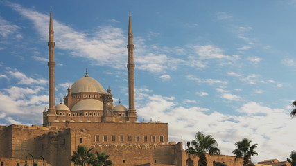 The Mosque of Muhammad Ali Pasha. Egypt. Time Lapse.