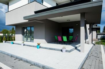 Modern house's terrace
