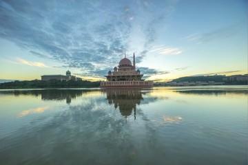 Sunrise At Putra Mosque, Putrajaya Malaysia - A time lapse