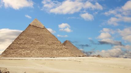 Great Pyramids of Giza. Cairo. Egypt. Time Lapse.