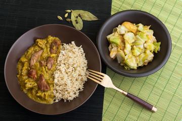 Curry vom Schwein mit Reis