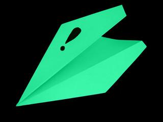 Paper airplane brings an idea