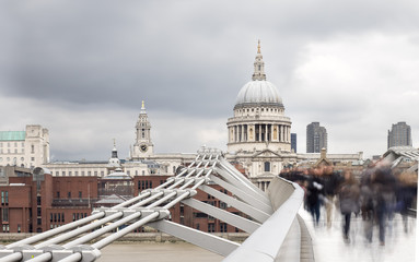 Millenium Bridge and St Pauls