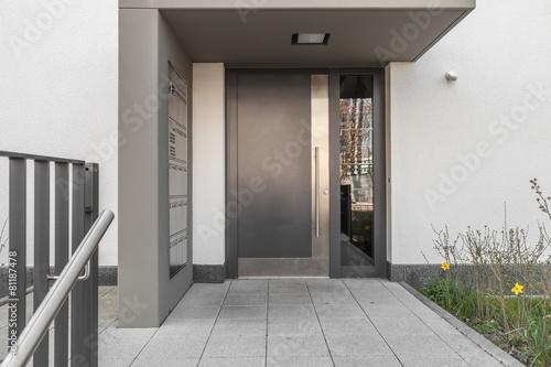 Leinwandbild Motiv Haustür Eingang
