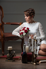 Wedding photo session in the Studio