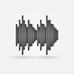 Soundwave black vector icon
