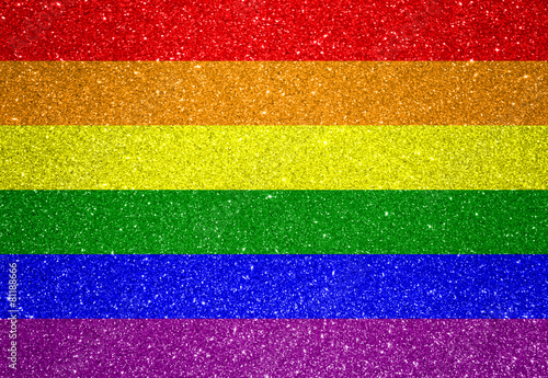 Leinwanddruck Bild Flag of LGBT