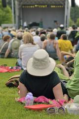 Outdoor free jazz concert