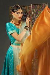 Beautiful woman in sari