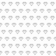Line Art Diamond Seamless Pattern