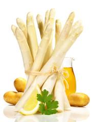 Spargel mit neuen Kartoffeln und Butter