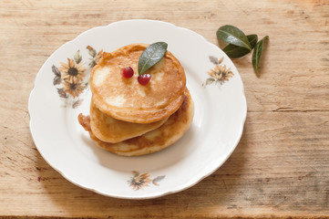 crepes or pancakes on a plate
