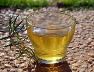 Herbal rosemary tea.