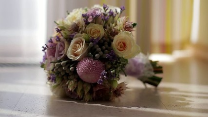 Beautiful wedding bouquet for the bride