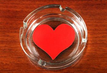 Heart Shape in Ashtray