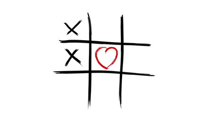 Tic Tac Toe - Love wins - alpha channel included