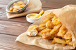 Fish and chips fast food - 81190696